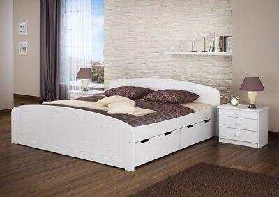 60 50 20 W Bett Weiss 200x200 Kiefer Massiv Mit Rollroste Ebay