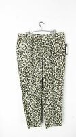 Larry Levine Leopard Animal Print Pants Sz 14 Ankle Slim Leg