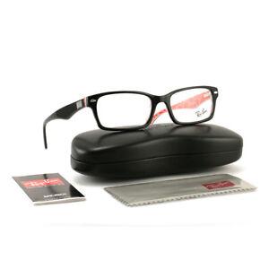 Ray Ban Eyeglasses RX5206 2479 Shiny Black Rectangle 54 18 145 Demo ... 27249f57dde