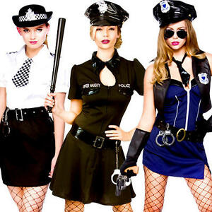 Image is loading Sexy-Police-Woman-Lady-Officer-Ladies-Fancy-Dress-  sc 1 st  eBay & Sexy Police Woman Lady Officer Ladies Fancy Dress Cops Uniform ...