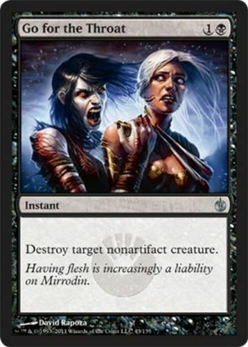 Mirrodin Besieged 1x GO FOR THE THROAT NM MTG Magic the Gathering