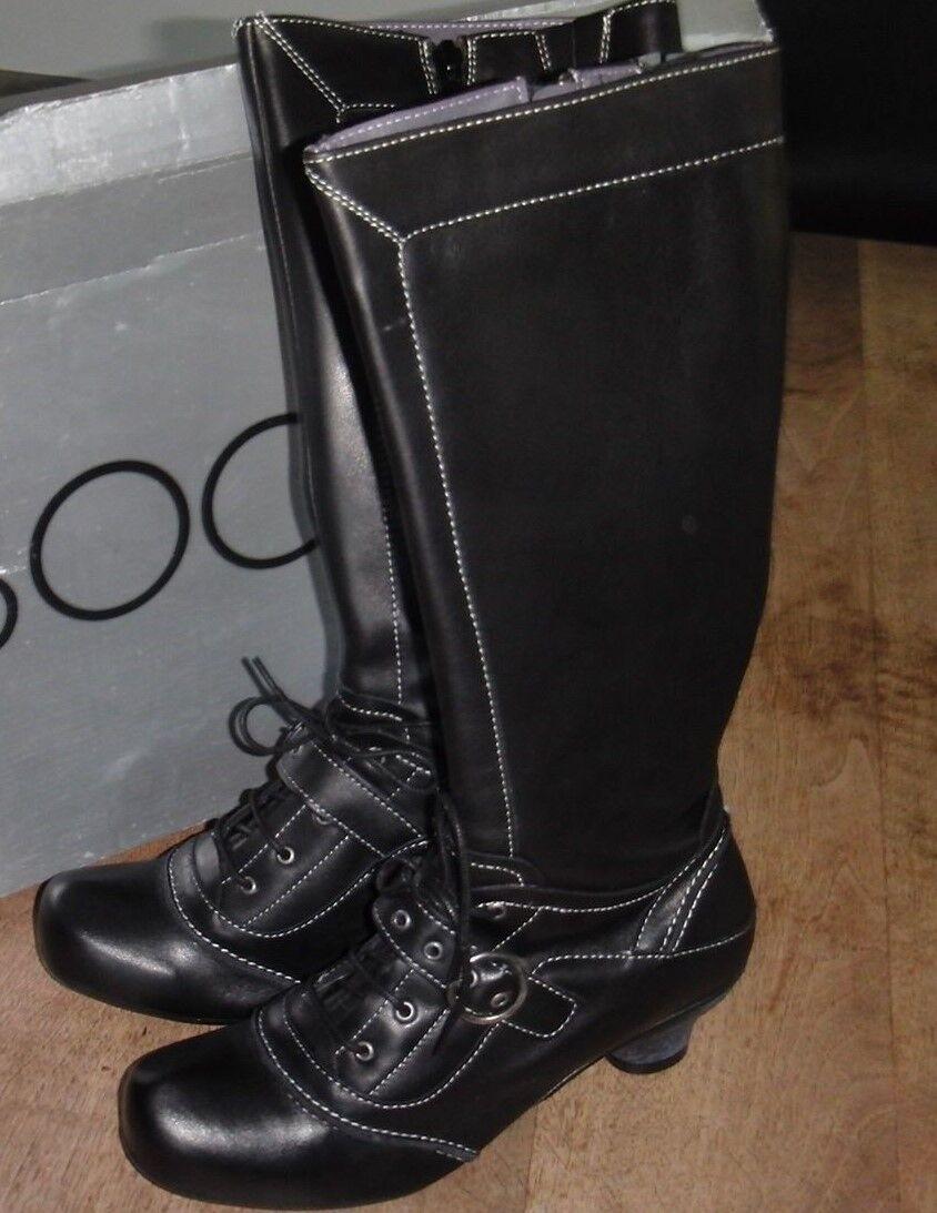 BOCAGE Tablo schwarzes Leder Absatz 4cm neu Wert 179E Größe ,38