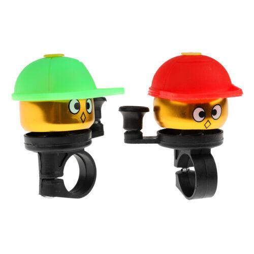 2 Stück Kinder Aluminiumlegierung Alarm Bell Ring Fahrrad Lenkerhorn