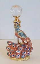 Gorgeous BNIB Red/Blue Peacock Perfume Scent Bottle. Brand New in Box