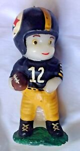 Pittsburgh Steelers 8 inch Football player 1970's era  Candle #12   unlit