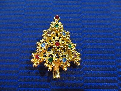 Vintage Eisenberg Christmas Tree Brooch Vintage Eisenberg Christmas Tree Pin Vintage Gold Christmas Tree Pin Vintage Gold Christmas Tree Pin