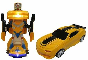 Car Transform To Robot Toys Boys Girls Kids Children Light Sound