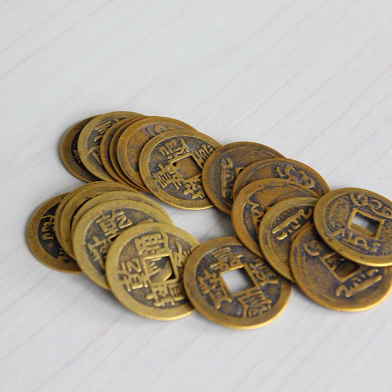 10 מטבעות מזל ושפע סיניות לארנק, DIY לגלויה,תכשיט, מחזיק מפתחות ועוד