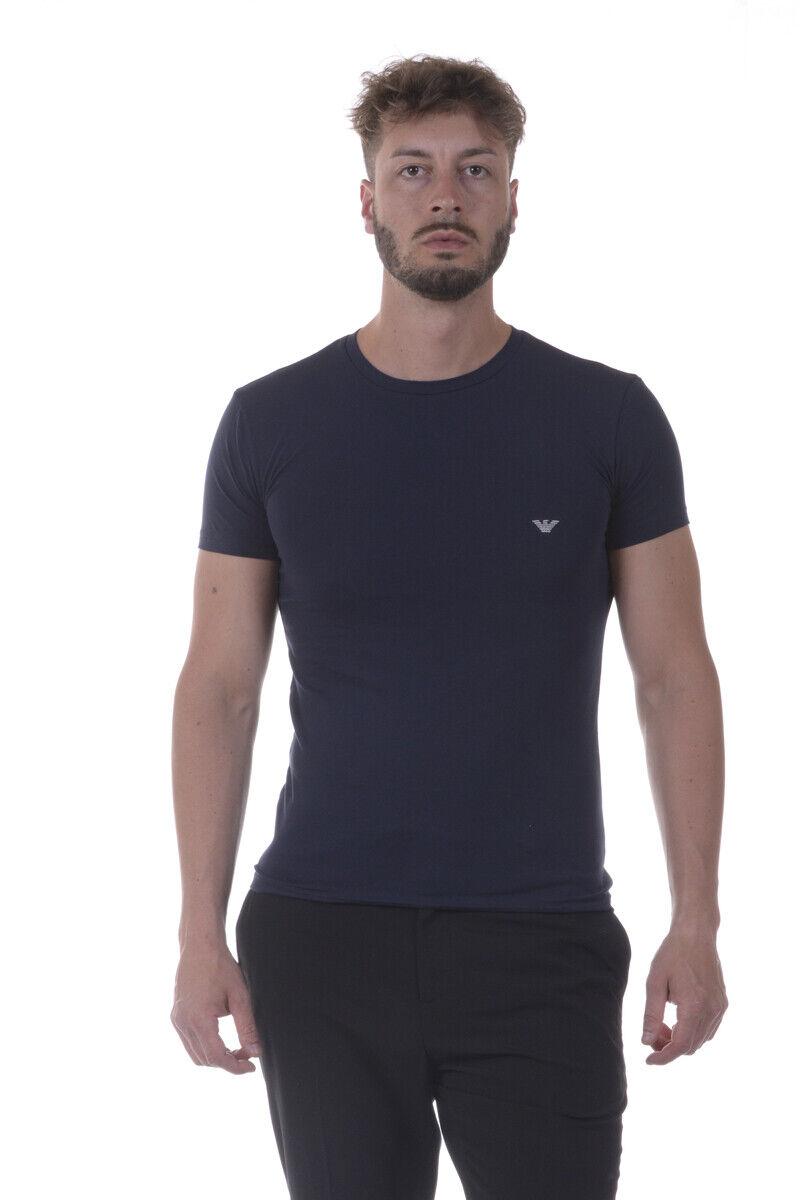 Emporio Armani T Shirt Sweatshirt Man Blau 1110357P512 135 Sz L MAKE OFFER