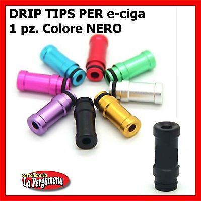 Drip Tip per sigaretta elettronica ricambi e-ciga e-siga 510 NERO