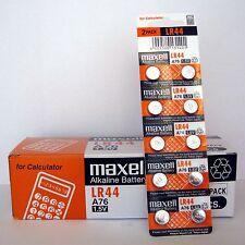 9 NEW LR44 MAXELL A76 L1154 AG13 357 SR44 303 BATTERY FRESHLY NEW - USA Seller