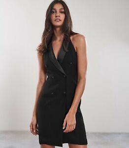 cheap sale wholesale online competitive price Reiss Women's Sleeveless Sinead Tuxedo Dress Black 4 | eBay
