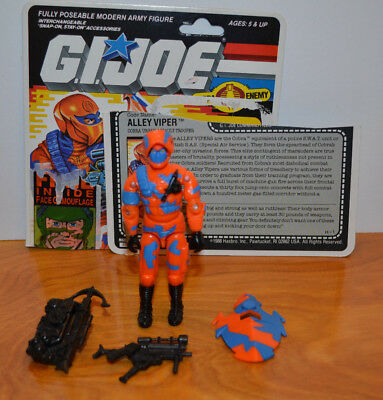 Alley Viper 100/% Complete with card ARAH GI Joe