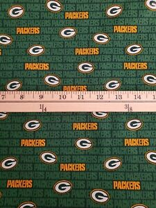 Nfl Green Bay Packers Print 100 Cotton Fabric 9 X 58 Quarter Yard New Ebay
