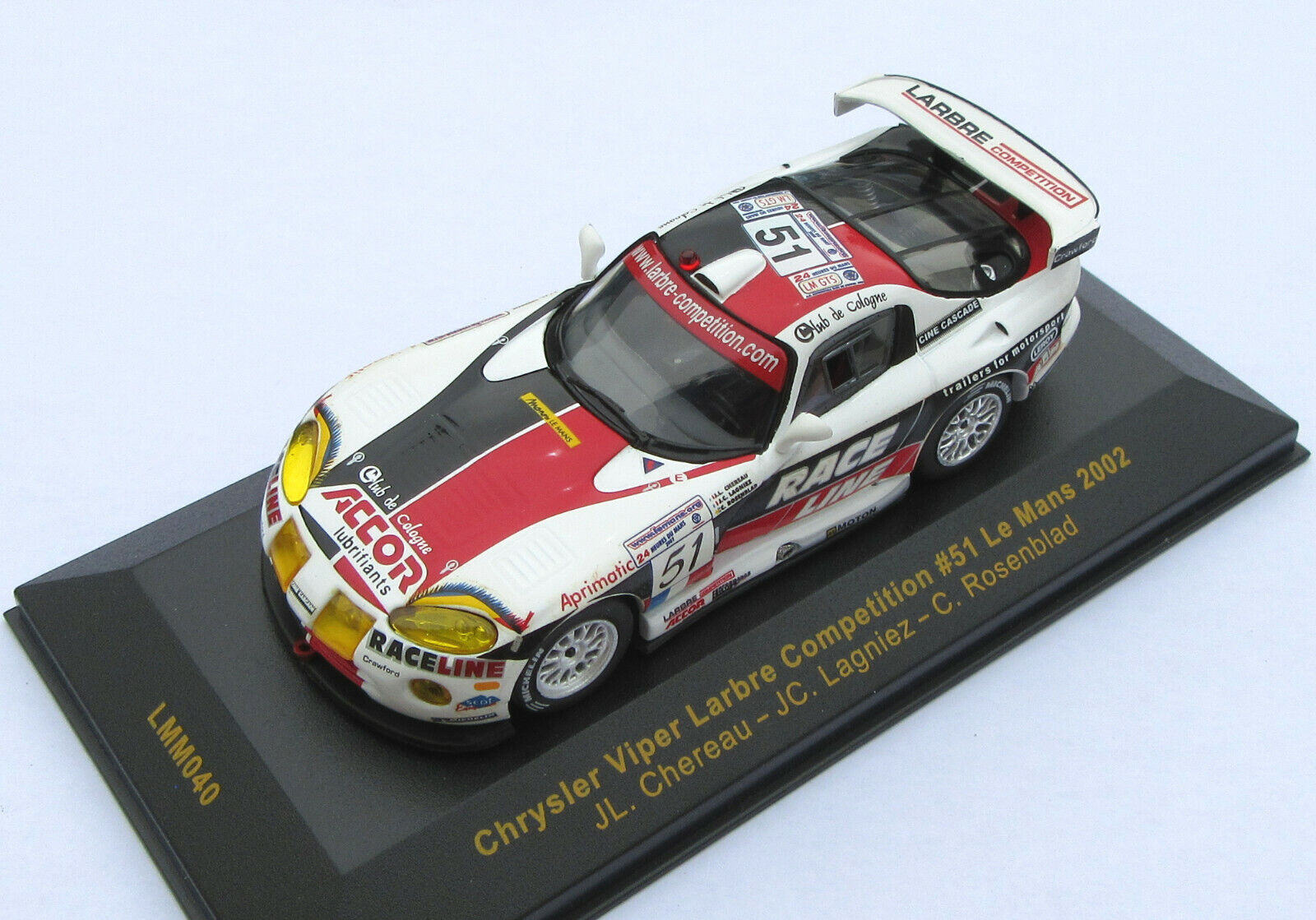 Chrysler Viper Larbre Competition n 65533;65533; 51 Le Mans 2002 - IXO 1  43