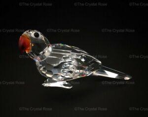 RARE-Retired-Swarovski-Crystal-Parrot-Standing-Colour-Beak-294047-Mint-Boxed