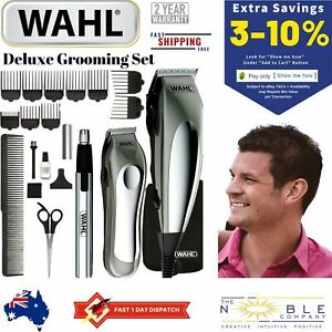WAHL-Hair-Clippers-Cordless-Beard-Nose-Trimmer-Groomer-Shaver-Mens-Haircut-Set