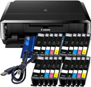 Canon-PIXMA-IP7250-Drucker-USB-20x-XL-TINTE-CD-Druck-Duplex-Foto-WLAN