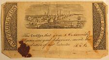 Early 1800s Reward of Merit Sailing Ships Harbor Scene #2 Approbation
