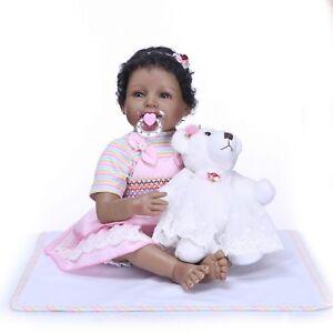 22-039-039-55cm-Reborn-Toddler-Doll-Real-Looking-Realistic-Lifelike-Black-Girl-Present
