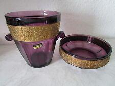 Goldfries Glas-Eiseimer und Glas Schale WALTHER GLAS Hellas TOP (C230)