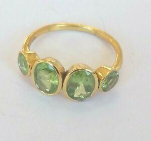Peridot-Ring-925-Silber-vergoldet