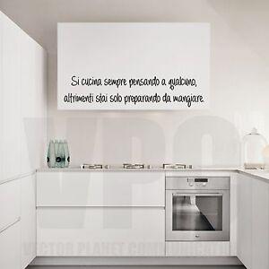 wall stickers frasi si cucina sempre pensando a qualcuno aforisma ...