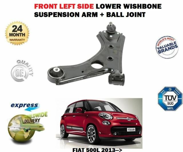 Pour Fiat 500L 2013> avant Gauche Bras de Suspension Inférieur + Balle Joint