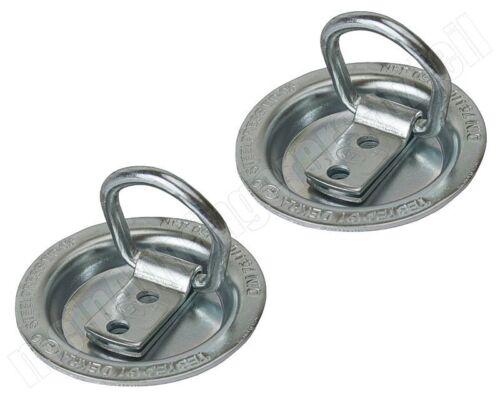 2x Zurrmulde Klappöse mit Ring klappbar Einbau 250daN 250kg zur Ladungssicherung