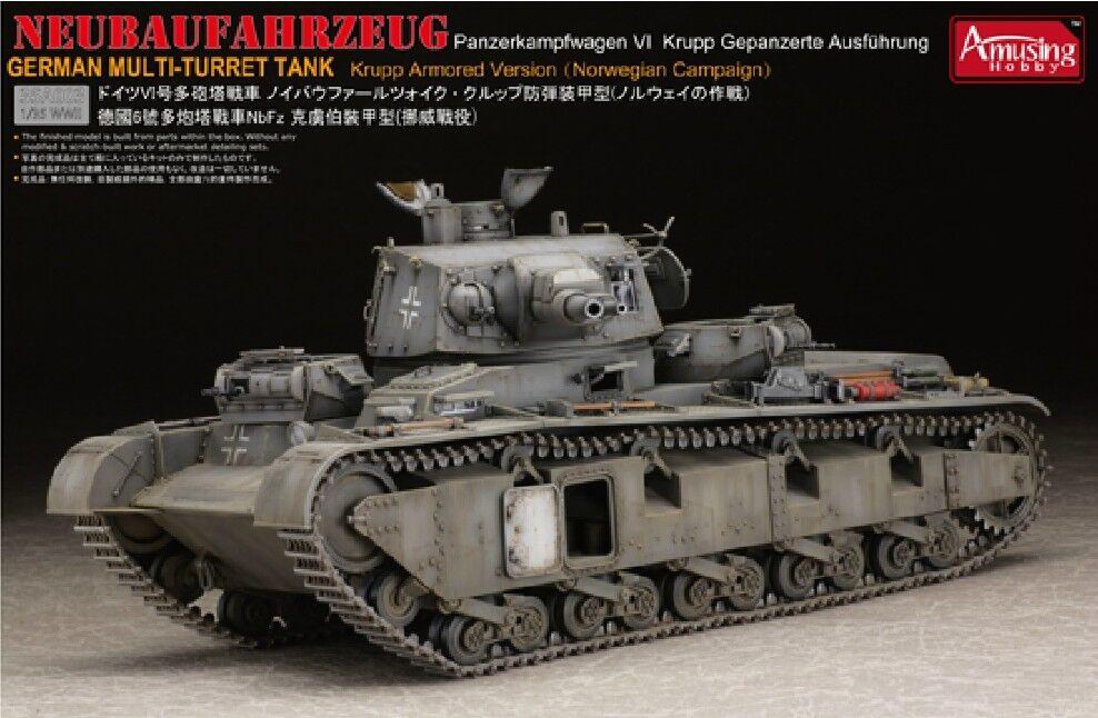 Amusing Hobby 1 35 35A003 Neubaufahrzeug Panzerkampfwagen VI Krupp Version
