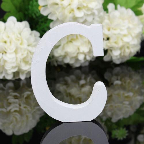 Holz Buchstaben weiß A-Z Sonderzeichen Deko Schrift Alphabet Buchstabe Hochzeit