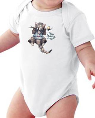 Youth Kids T-shirt Hang In There Raccoon k-474b