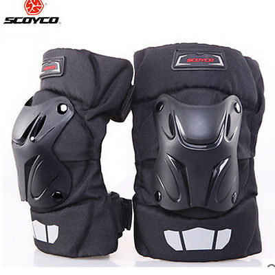 Motorcycle Motocross Bike Racing Knee Pads Protector Guards Armor Gear Black