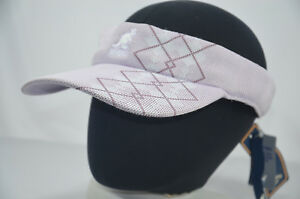 bf05d3c23ecdd VINTAGE Kangol Visor Cap Hat Sun ARGYLE STRIPE One Size Adjustable ...