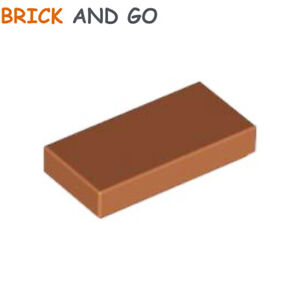 Lego 5 New Reddish Brown Tiles 1 x 1 with Groove Flat Smooth Pieces Parts