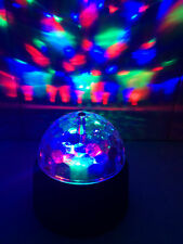 Battery Powered LED Disco Ball Rotating Spinning Crystal Party Lamp Light Bulb