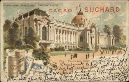 1900 Paris Expo Universelle Petit Palais des Beaux Chocolat Suchard USED PC