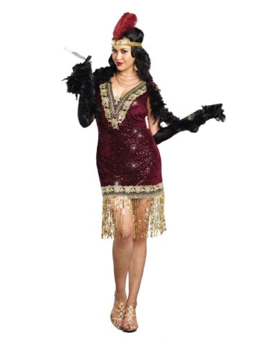 Flapper Sophisticated Lady Roaring 20s 20/'s Adult Costume Plus Size