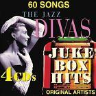 The Jazz Divas Juke Box by Various Artists (CD, Jan-2014, 4 Discs, AAO Music)