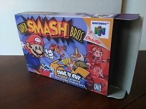 Super-Smash-Bros-N64-Replacement-Art-Case-Box-ONLY