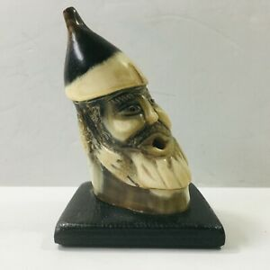 Antique-Central-European-Head-Sculpture-Sculpted-in-a-Horn-Tip-4in-unmarked