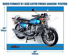 SUZUKI GT750 MOTORCYCLE WIDE FORMAT B1 SIZE SATIN FINISH 200GSM POSTER