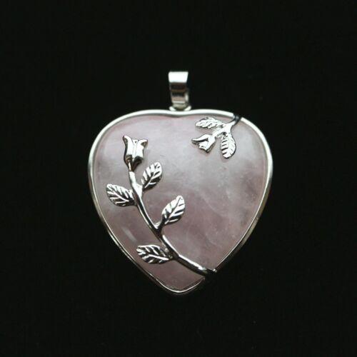 Rose Quartz Jewellery Making Pendants Heart Chakra Necklace Making
