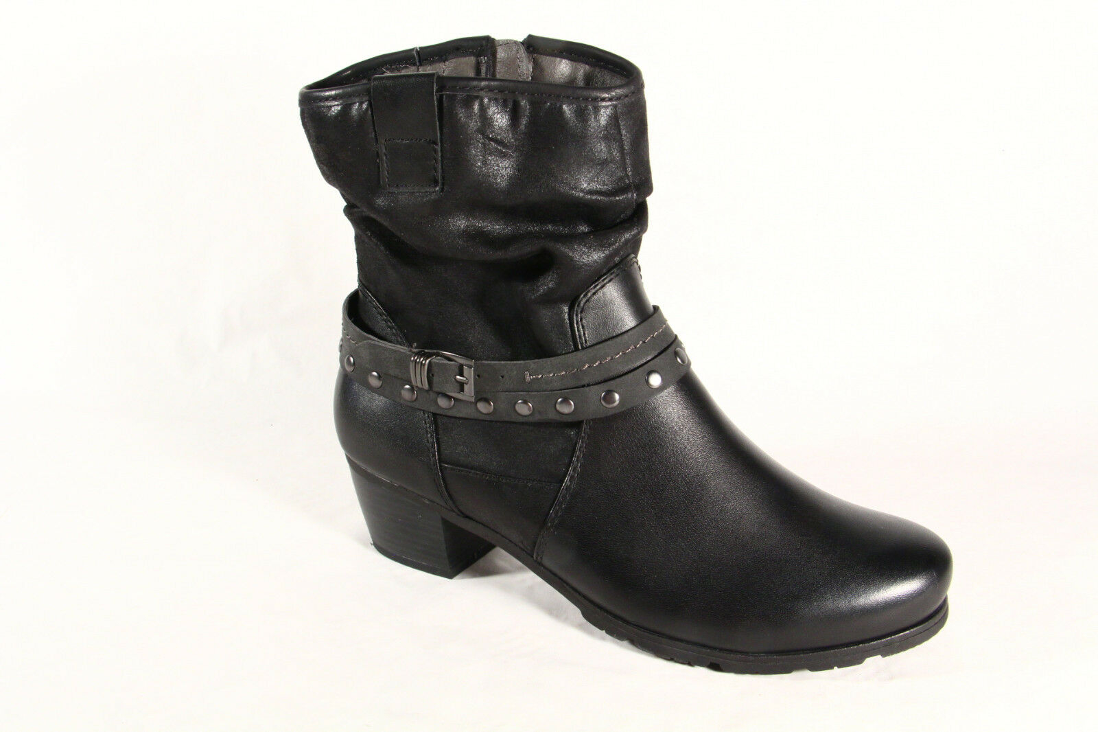 Jana Damen Stiefel, schwarz Stiefeletten, Stiefel Winterstiefel Leder schwarz Stiefel, 25335  NEU bd265f