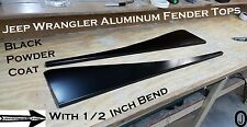 Jeep Wrangler TJ Black Powder Coated Aluminum Fender Covers With 1/2 inch Bend