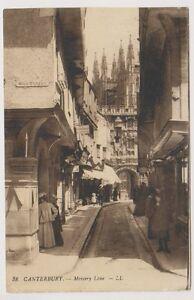 Kent-Postkarte-Canterbury-Mercery-Lane-Ll-No-38-P-U-1913-A301