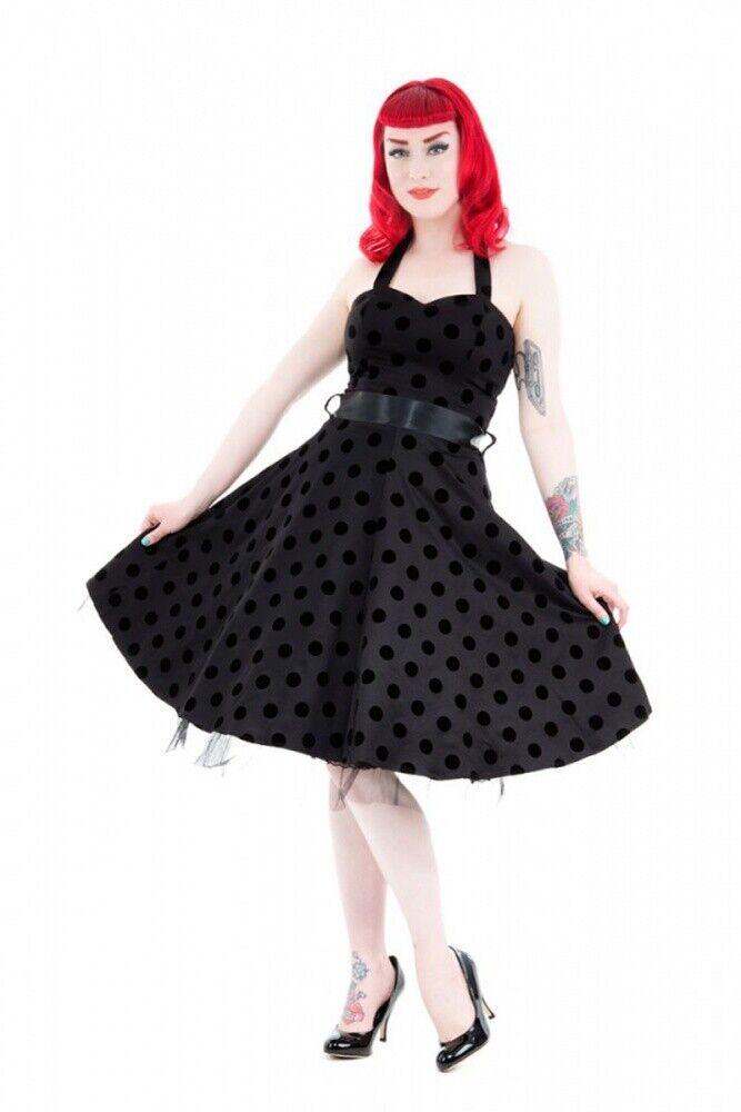 Hearts and Rosas Kleid schwarz Betty Dot-Punkte-50´s-Rockn Roll