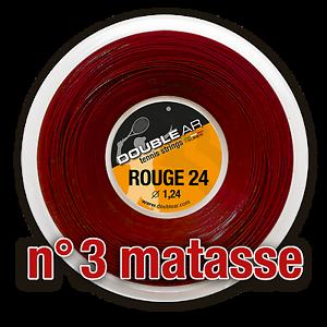DOUBLE AR red 24 - Corde Tennis 3 X 200mt l'una - Tennis strings 3 X 200meters
