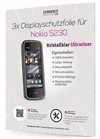 3x Displayschutzfolie Für Nokia 5230 Schutzfolie Displayschutz Clear Klar