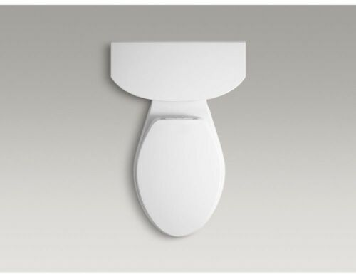 Toilet Seat Elongated Closed Front White with Programmable Dual LED Nightlight